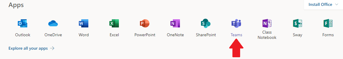 Office 365 apps.